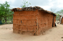 Traditional house of masai Stock Image
