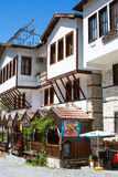 Traditional house with mehana restaurant in Melnik Stock Images