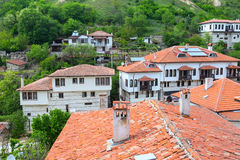 Traditional house in Melnik town, Bulgaria royalty free stock images