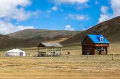 Traditional house in Mongolia Royalty Free Stock Photo