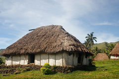 Traditional house of Navala village, Viti Levu, Fiji Stock Image