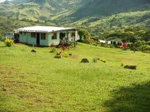 Traditional house of Navala village, Viti Levu, Fiji Stock Image