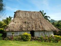 Traditional house of Navala village, Viti Levu, Fiji Royalty Free Stock Photography