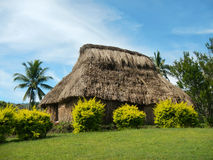 Traditional house of Navala village, Viti Levu, Fiji Royalty Free Stock Images