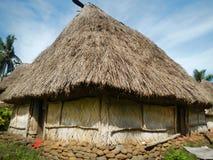 Traditional house of Navala village, Viti Levu, Fiji Stock Photography