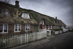 Traditional house in Nordby on the danish island Fano Royalty Free Stock Photo