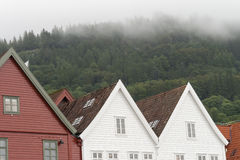 Traditional house Norway Bergen Royalty Free Stock Photography
