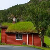 Traditional house of Norway Royalty Free Stock Images
