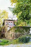 Traditional house in the old town of Plovdiv, Bulgaria with  Traditional houses Royalty Free Stock Photos