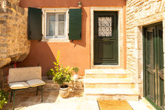 Traditional house from Perithia old village, Corfu Stock Images