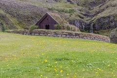 Traditional house Pjodveldisbaer, Iceland. Royalty Free Stock Photos