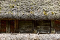 Traditional house with reed roof Stock Photography