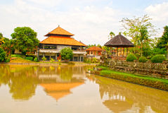 Traditional house and river(Bali, Indonesia) Stock Images
