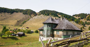 Traditional house from Romania. Old house located on the top of the Carpathian Mountains of Romania Stock Photography