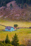 Traditional house in romanian mountains Stock Photos