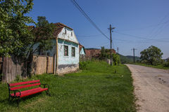 Traditional house in the Romanian town of Copsa Mare Stock Images