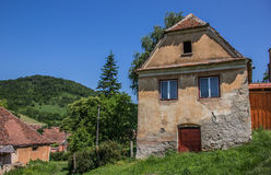 Traditional house in the Romanian town of Copsa Mare Royalty Free Stock Images