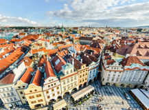 Traditional house roofs in Prague, Czech Republic Royalty Free Stock Photos