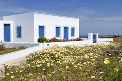 Traditional house at Santorini, Greece Royalty Free Stock Photos
