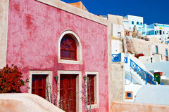 Traditional house at Santorini island Stock Image