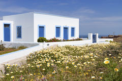 Traditional house at Santorini island Royalty Free Stock Photography