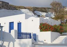 Traditional house at Santorini island Royalty Free Stock Images