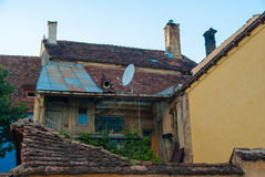 Traditional house in Sighisoara, Romania Royalty Free Stock Images