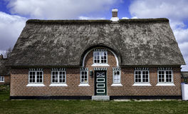 Traditional house in Sonderho on the danish island Fano Stock Photo