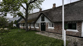 Traditional house in Sonderho on the Danish island Fano Royalty Free Stock Photo