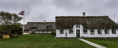 Traditional house in Sonderho on the Danish island Fano Royalty Free Stock Images