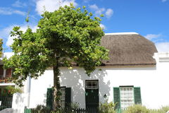 Traditional house in Stellenbosch Royalty Free Stock Image