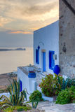 Traditional house at sunset, Milos island, Greece Stock Photo