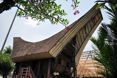 Traditional house in Tana Toraja, Indonesia Royalty Free Stock Image