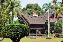 Traditional house in Tana Toraja, Indonesia Stock Photography