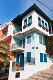 Traditional house at Thessaloniki in Greece Royalty Free Stock Images