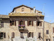 Traditional House in Tuscany Stock Photo