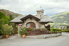 Traditional house in the valley of Aosta Royalty Free Stock Image