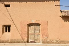 Traditional house of Valqunquillo, Tierra de Campos, Valladolid Royalty Free Stock Photo