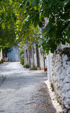Traditional house in village on  Crit  . Street of the old Greek village. Crit Stock Photo