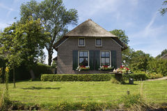 A traditional house in the village Dwarsgracht Stock Image