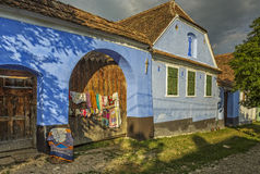 Traditional house in Viscri, Romania Royalty Free Stock Photos