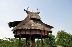 Traditional house on West Kalimantan, Indonesia Stock Photo
