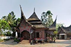 Traditional house on West Sumatra, Indonesia Stock Photo