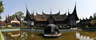 Traditional house on West Sumatra, Indonesia Royalty Free Stock Image