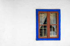 Traditional house window. Traditional Romanian house window, preserved in a village museum Royalty Free Stock Photos
