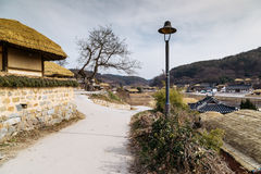 Traditional house at winter in Gyeongju Yangdong Village UNESCO World Heritage Royalty Free Stock Images