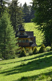 Traditional house in Zakopane Tatra mountains Stock Images