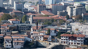 Traditional Houses. Restitution area of traditional Turkish Houses in Ankara, Turkey Royalty Free Stock Photography