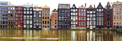Traditional houses of Amsterdam. Royalty Free Stock Images