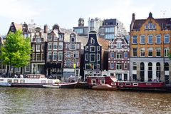 Traditional houses of Amsterdam. Royalty Free Stock Photography